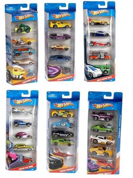 Подарочный набор Hot Wheels из пяти машинок (Mattel)