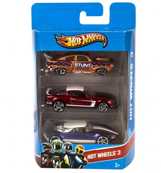 Подарочный набор Hot Wheels K5904 из трех машинок (Mattel)