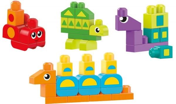 Обучающий конструктор MEGA BLOKS Разные формы (Mattel)