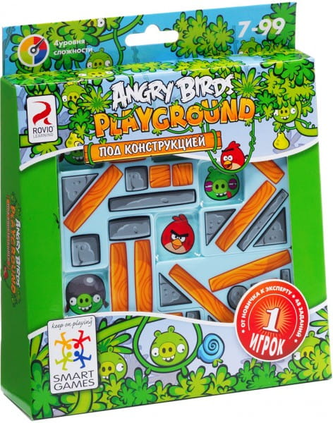 Купить Логическая игра Bondibon Angry Birds Playground Под конструкцией в интернет магазине игрушек и детских товаров
