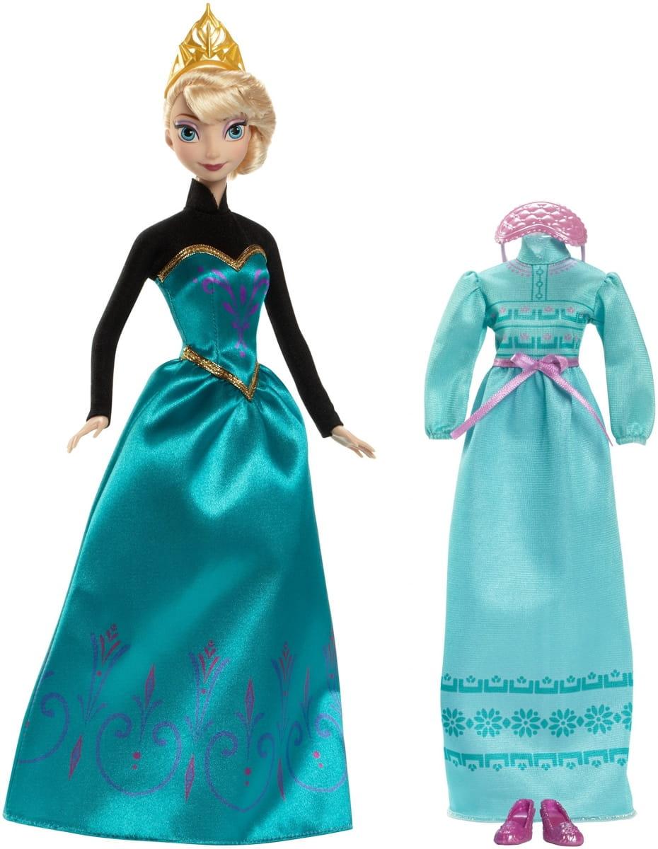 Кукла Disney Princess CMM29 Холодное сердце Эльза c дополнительным платьем (Mattel)