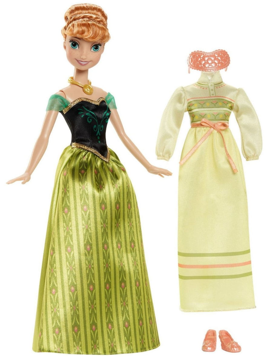 Кукла Disney Princess CMM29 Холодное сердце Анна c дополнительным платьем (Mattel)