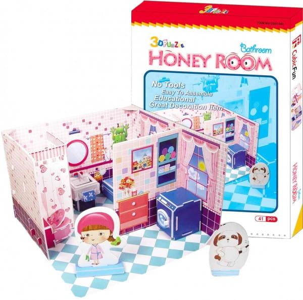 Купить Объемный 3D пазл CubicFun Медовая комната (ванна) в интернет магазине игрушек и детских товаров