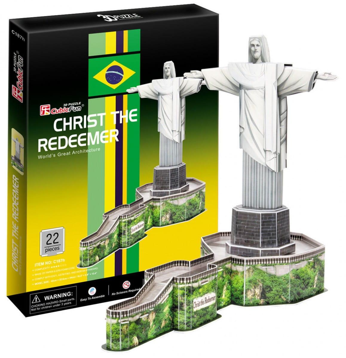 Объемный 3D пазл CubicFun C187h Статуя Христа-Искупителя (Бразилия)