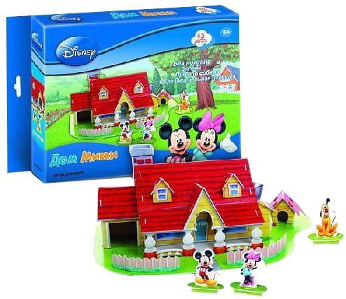 Купить Объемный 3D пазл CubicFun Дом Микки в интернет магазине игрушек и детских товаров