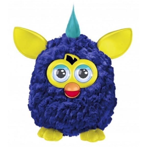 Купить Интерактивная игрушка Furby (Ферби) с хохолком синий (Hasbro) в интернет магазине игрушек и детских товаров