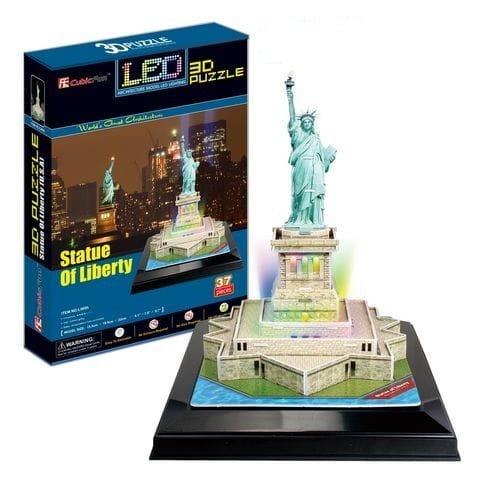 Объемный 3D пазл CubicFun Статуя Свободы с иллюминацией в США