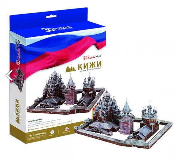 Купить Объемный 3D пазл CubicFun Кижи (Россия) в интернет магазине игрушек и детских товаров