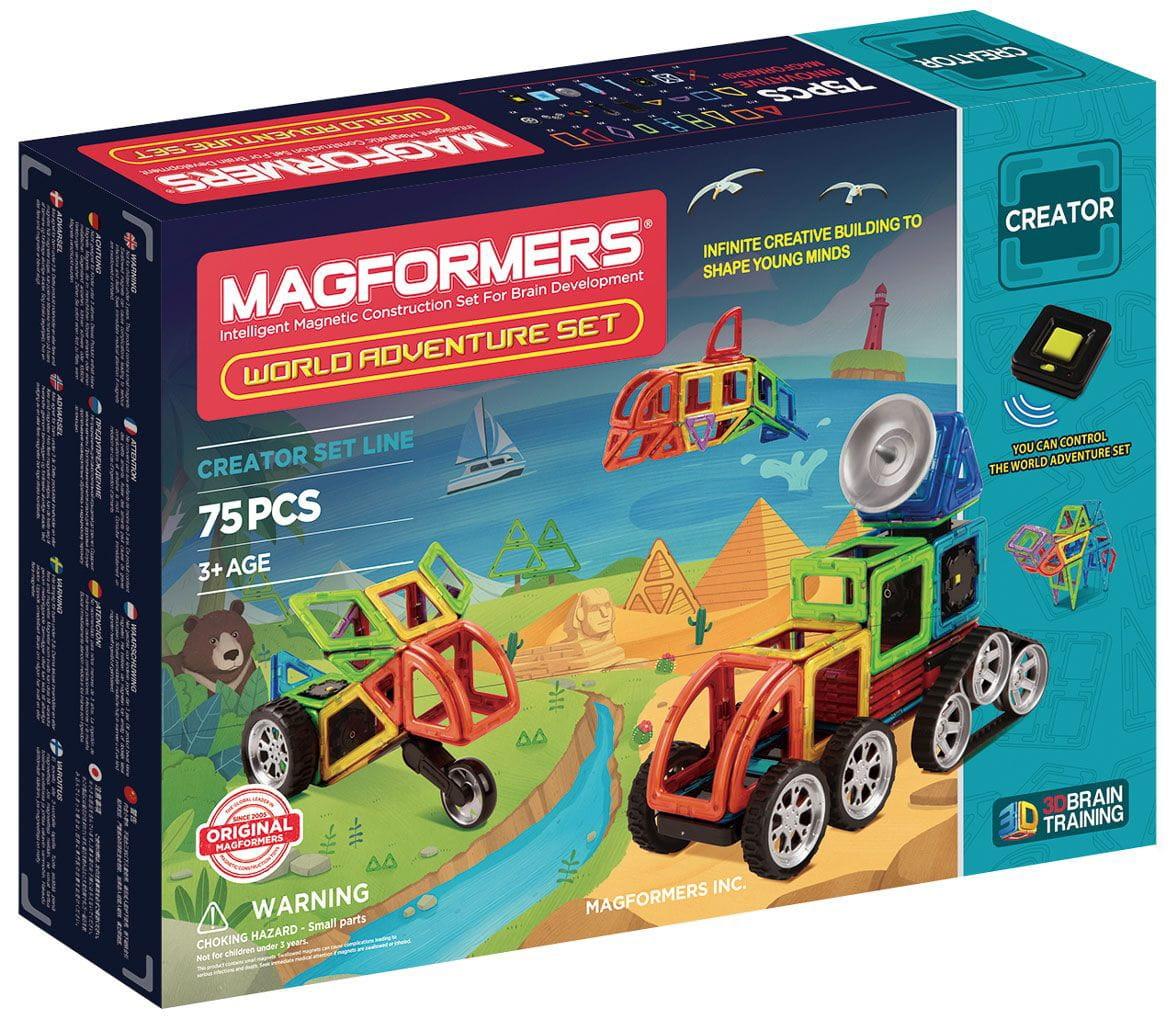 Магнитный конструктор Magformers 703013 World Adventure Set (75 деталей)
