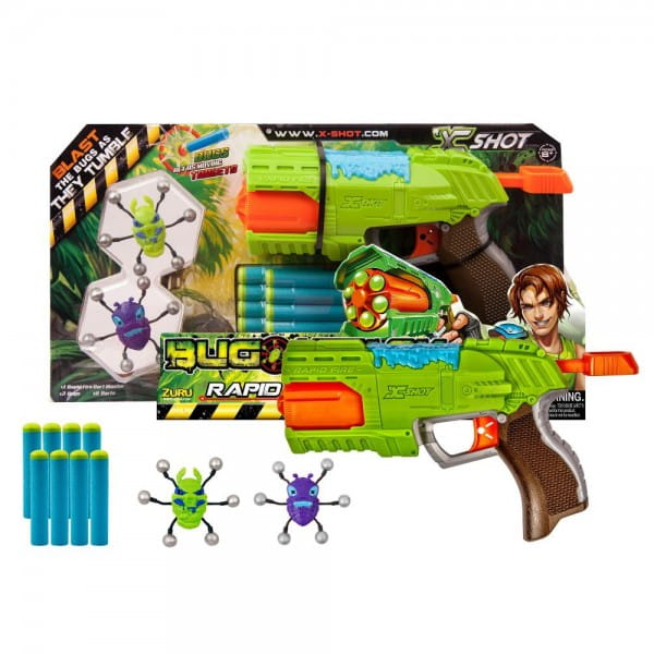 Бластер X-SHOT Быстрый Огонь Атака пауков - Оружие