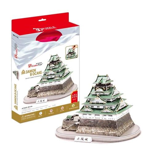 Купить Объемный 3D пазл CubicFun Замок в Осаке (Япония) в интернет магазине игрушек и детских товаров