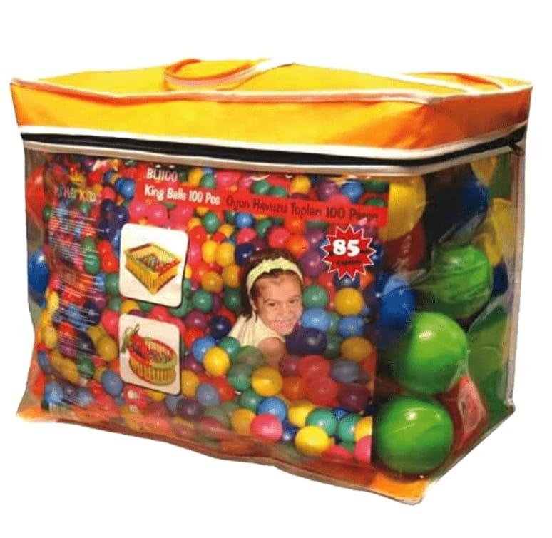 Шары для манежа King Kids KK_BL1110-65-100 65 мм - 100 штук (в сумке)