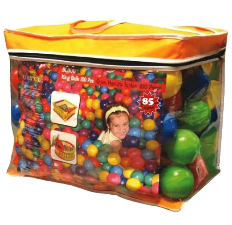 Шары для манежа King Kids KK_BL1100-90-500 90 мм - 500 штук (в сумке)