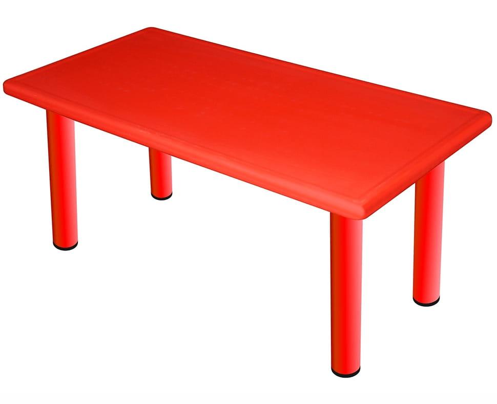 Большой пластиковый стол King Kids Королевский - красный