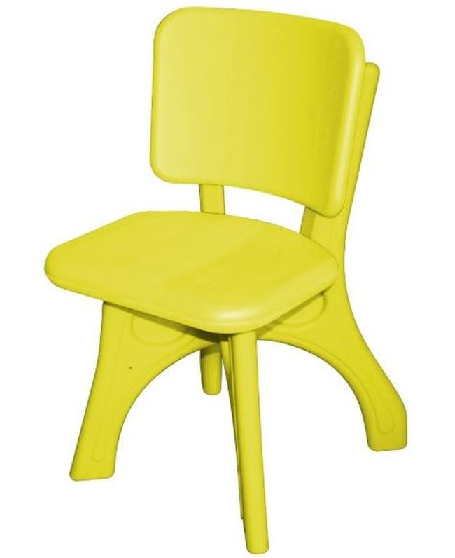 Детский пластиковый стул King Kids Дейзи - желтый