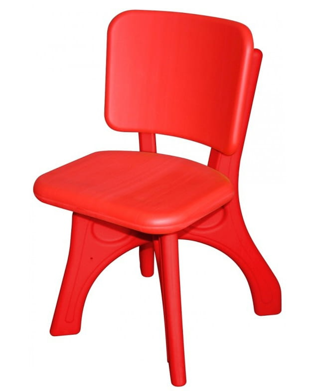 Детский пластиковый стул King Kids Дейзи - красный