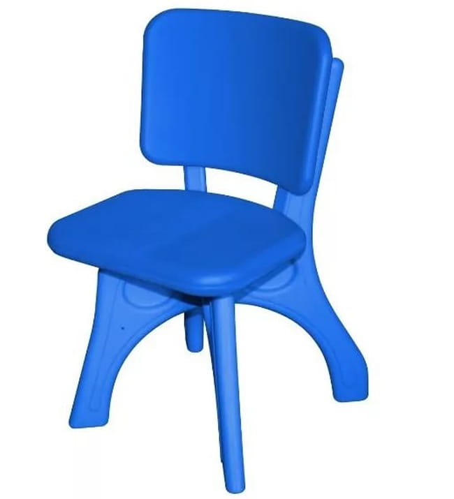 Детский пластиковый стул King Kids Дейзи - синий