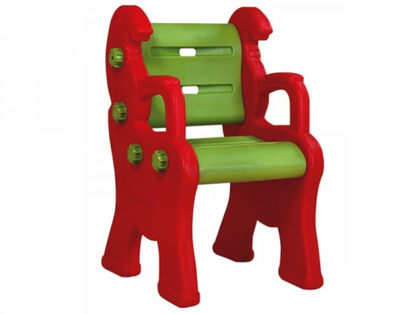 Детский пластиковый стул King Kids Королевский - красный