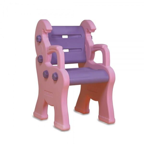 Детский пластиковый стул King Kids Королевский - розовый