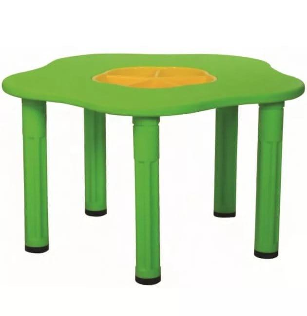 Детский столик King Kids Сэнди с системой хранения мелочей - желтый
