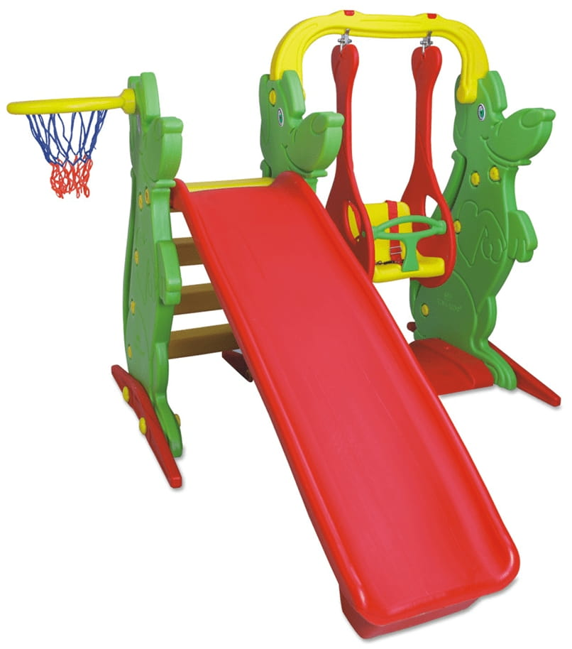 Игровой комплекс King Kids KK_KS9060-A (качели, горка, баскетбольное кольцо)