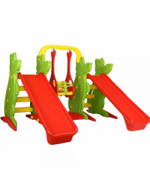 Игровой комплекс King Kids KK_KS9060-C (2 горки, 2 баскетбольных кольца и качели)