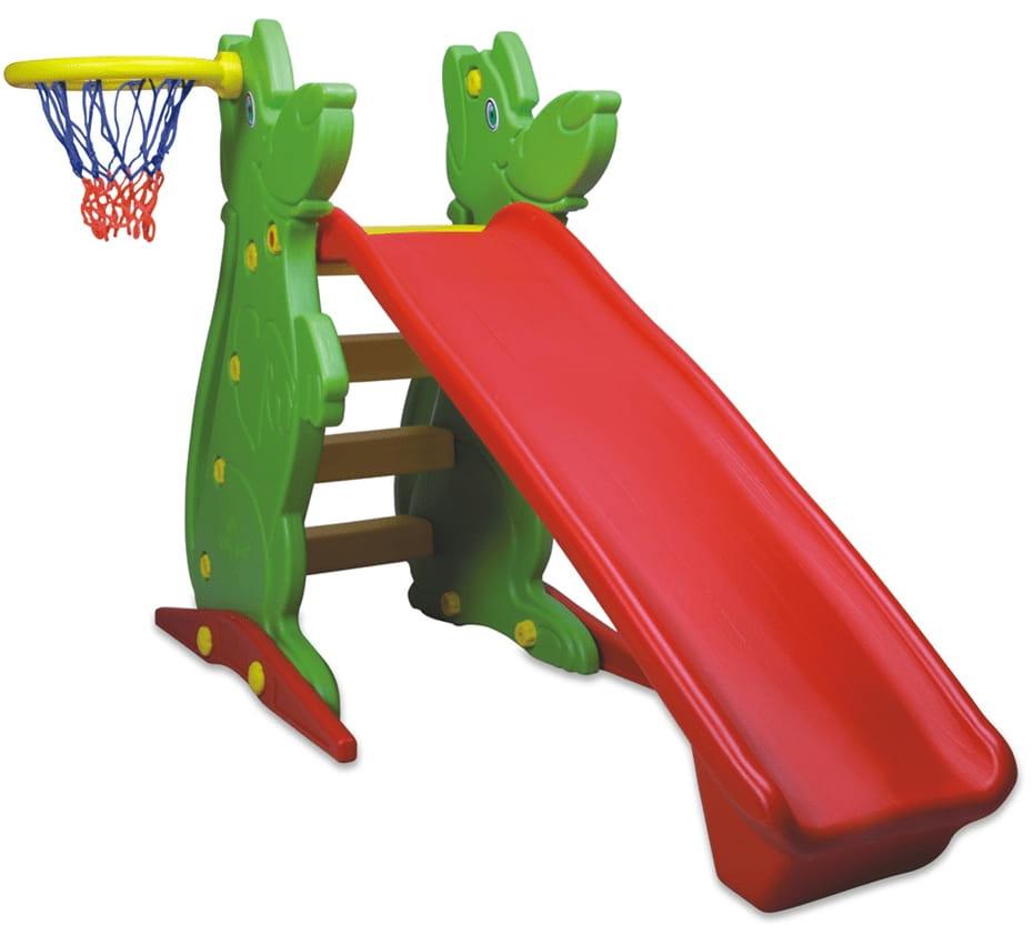 Горка KING KIDS с баскетбольным кольцом - 122 см