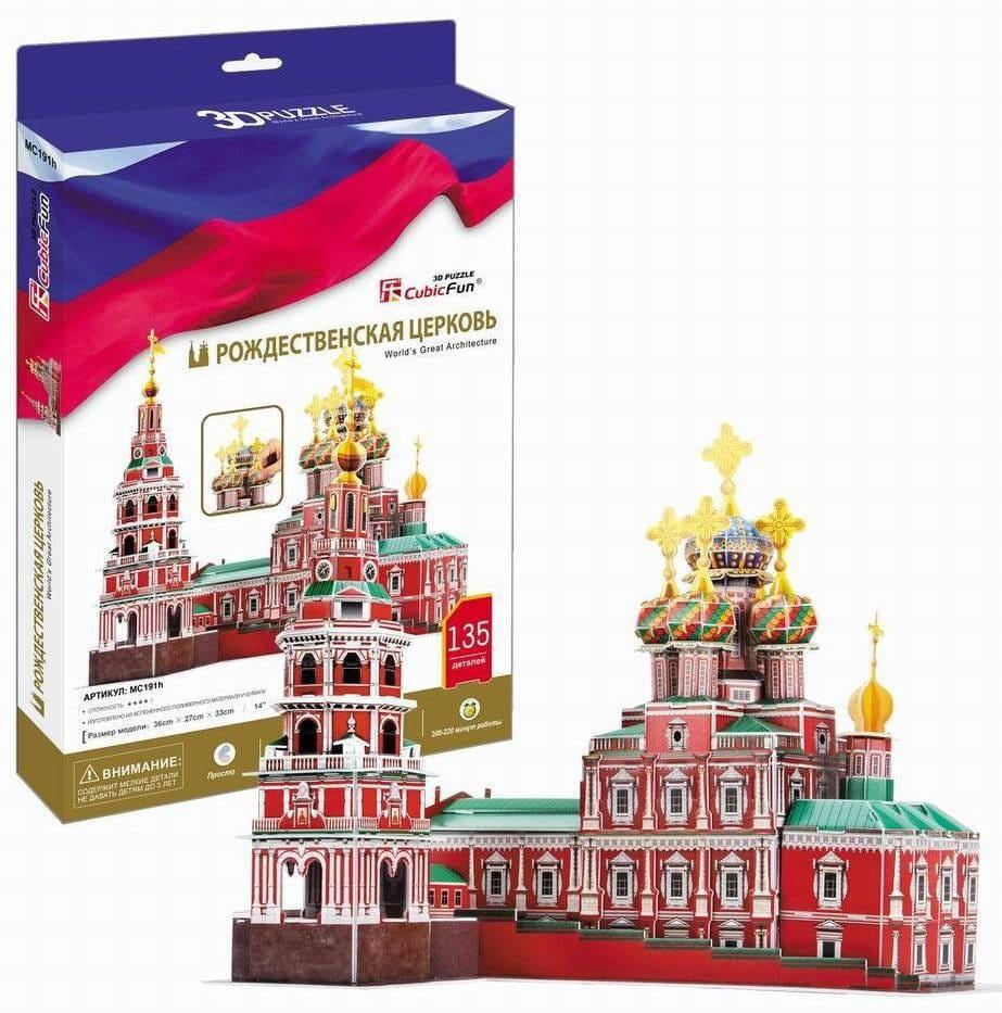 Объемный 3D пазл CUBICFUN Рождественская церковь (Россия) - 3D-пазлы