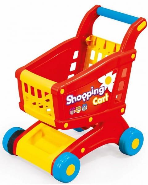 Тележка для супермаркета Dolu DL_7058 - красно-желтая (в коробке)