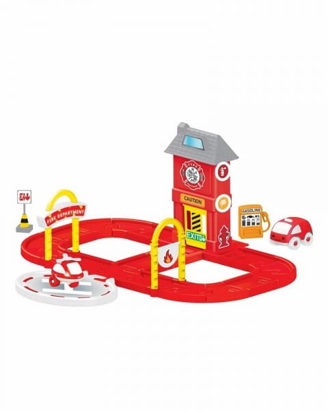 Игровой набор Dolu Пожарная станция с круговой дорогой