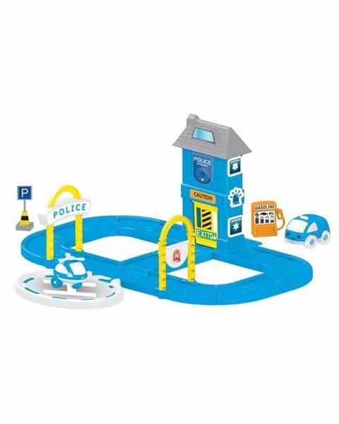 Игровой набор Dolu DL_5151 Полицейская станция с круговой дорогой