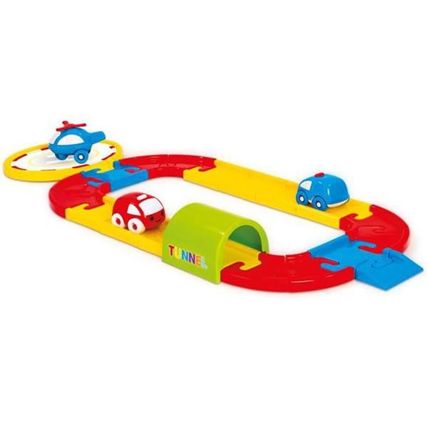 Игровой набор Dolu Круговая дорога с машинками (24 детали)