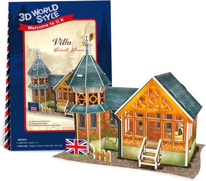 Купить Объемный 3D пазл CubicFun Особенности Великобритании (Вилла) в интернет магазине игрушек и детских товаров