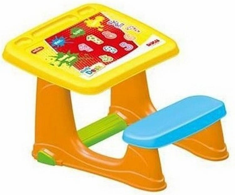 Парта DOLU со скамейкой (столешница с наклейкой) - Детская мебель