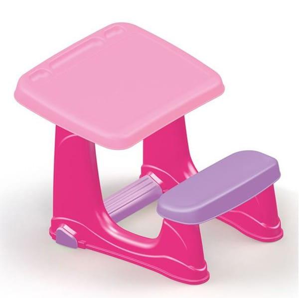 Парта DOLU со скамейкой - розовая