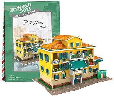 Купить Объемный 3D пазл CubicFun Особенности Италии (Фазенда) в интернет магазине игрушек и детских товаров