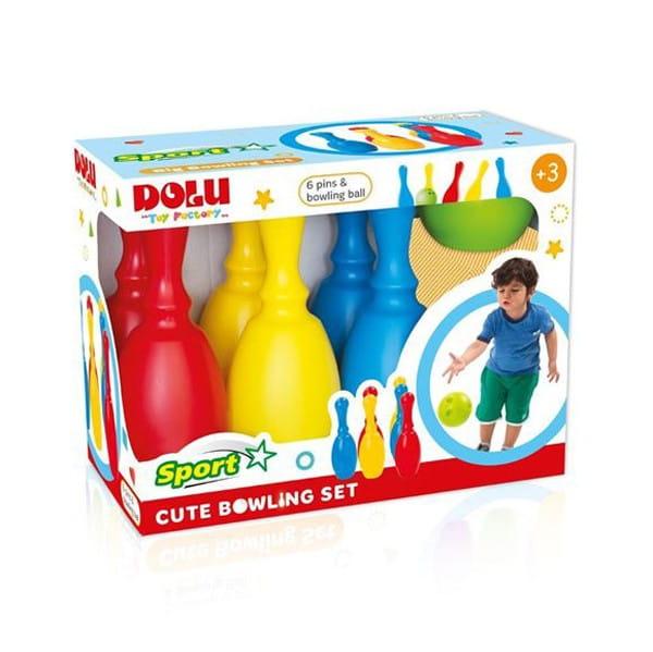 Маленький набор Dolu DL_6171 Боулинг - 6 кеглей и 1 шар