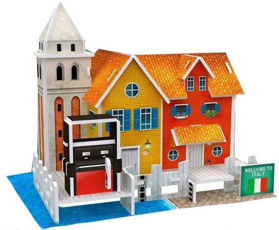 Купить Объемный 3D пазл CubicFun Особенности Италии (Верфь) в интернет магазине игрушек и детских товаров