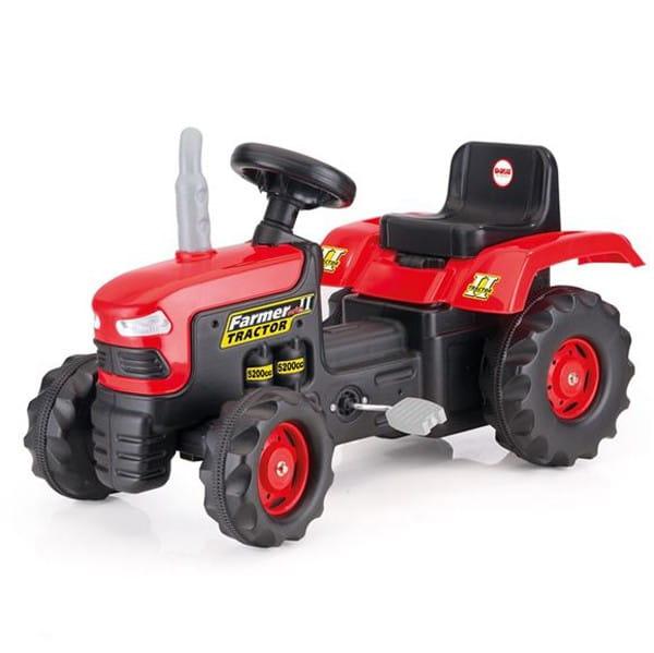 Педальный трактор Dolu - красно-черный