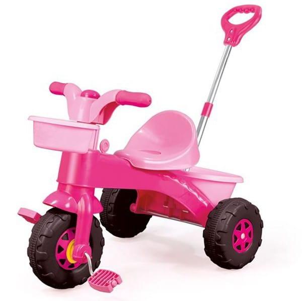 Мой первый велосипед Dolu - розовый (с родительской ручкой)