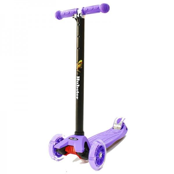 Детский самокат Hubster во2257 Maxi Flash - фиолетовый