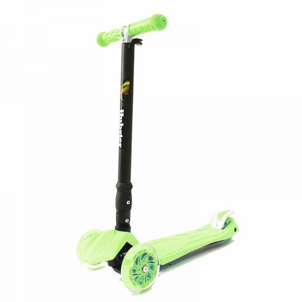 Детский самокат Hubster во2265 Maxi Plus Flash - зеленый