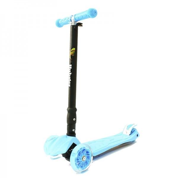 Детский самокат Hubster во2264 Maxi Plus Flash - синий