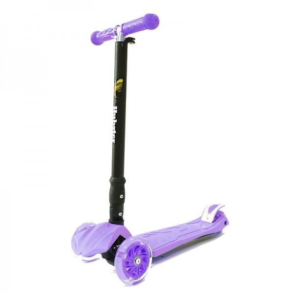 Детский самокат Hubster во2263 Maxi Plus Flash - фиолетовый