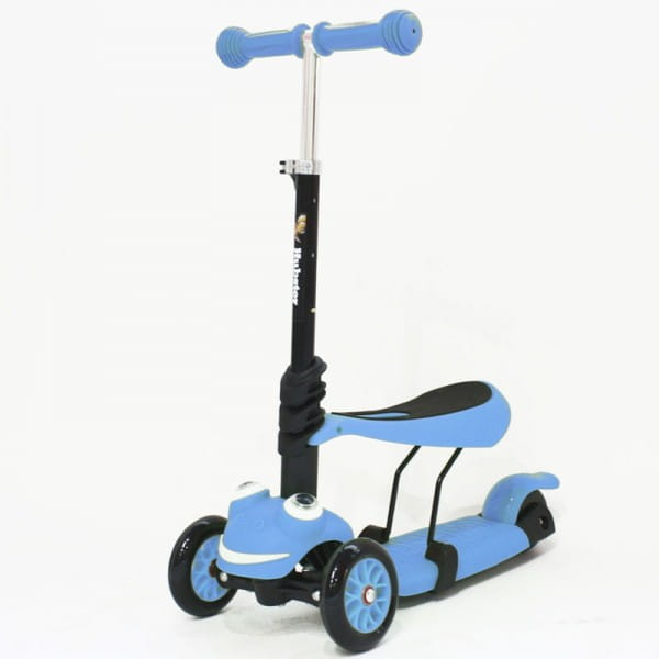 Детский самокат Hubster во2267 Lux Frog - синий