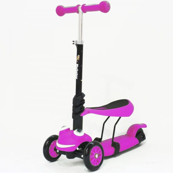 Детский самокат Hubster во2266 Lux Frog - розовый