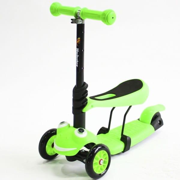 Детский самокат Hubster во2270 Lux Frog - зеленый