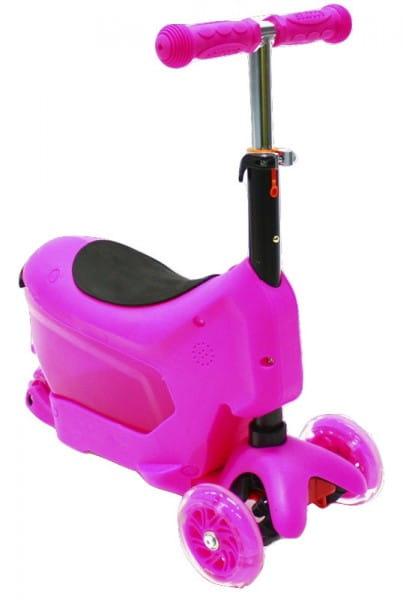 Детский самокат Hubster во2275 Comfort - розовый