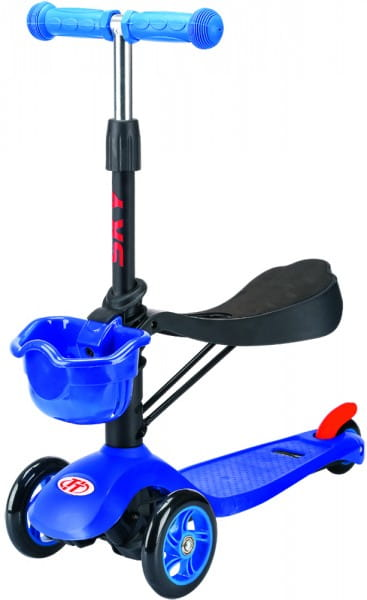 Детский самокат TechTeam во3024-2 Sky Scooter New - синий