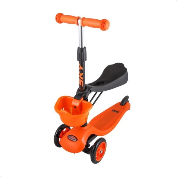Детский самокат TechTeam во3024-3 Sky Scooter New - оранжевый
